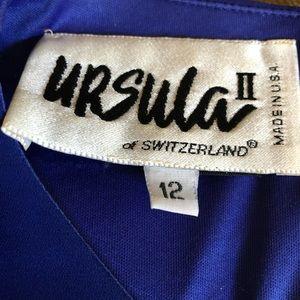 Ursala Dresses - Woman's Formal Dress-Size 12-Royal Blue
